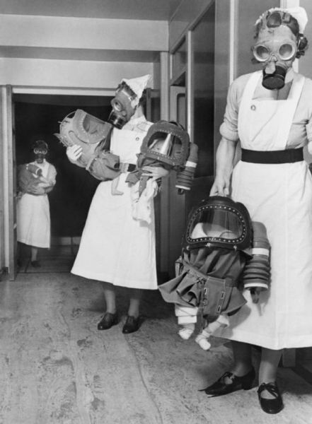 Gas mask nurse