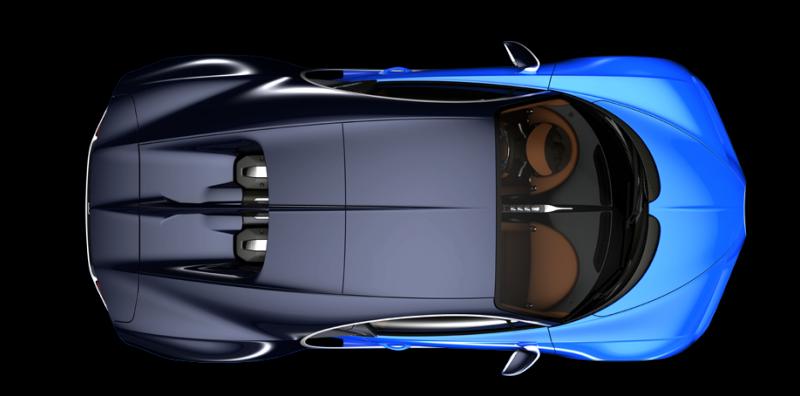 Bugatti Chiron, 2016 Fotoğraf Üst Görünüş