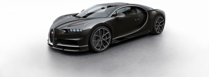 Bugatti Chiron, 2016 Fotoğraf Siyah