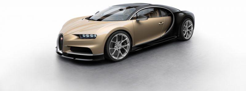 Bugatti Chiron, 2016 Fotoğraf Altın