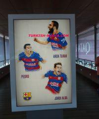 Arda Turan Barselona (Camp Nou) Stadında Yerini Aldı