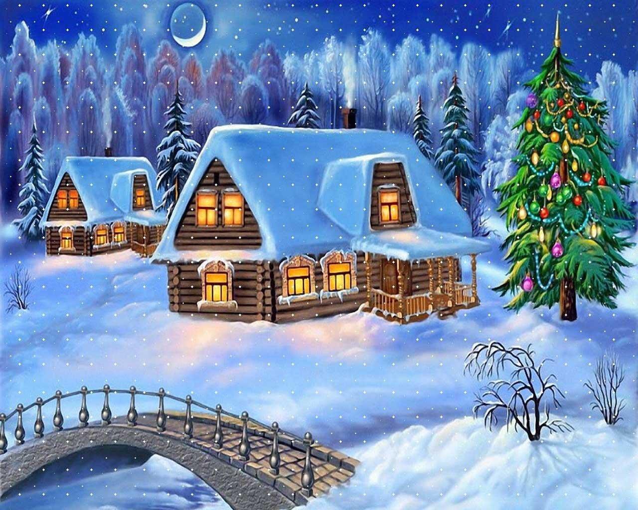 Yeni Yıl Gece Manzarası