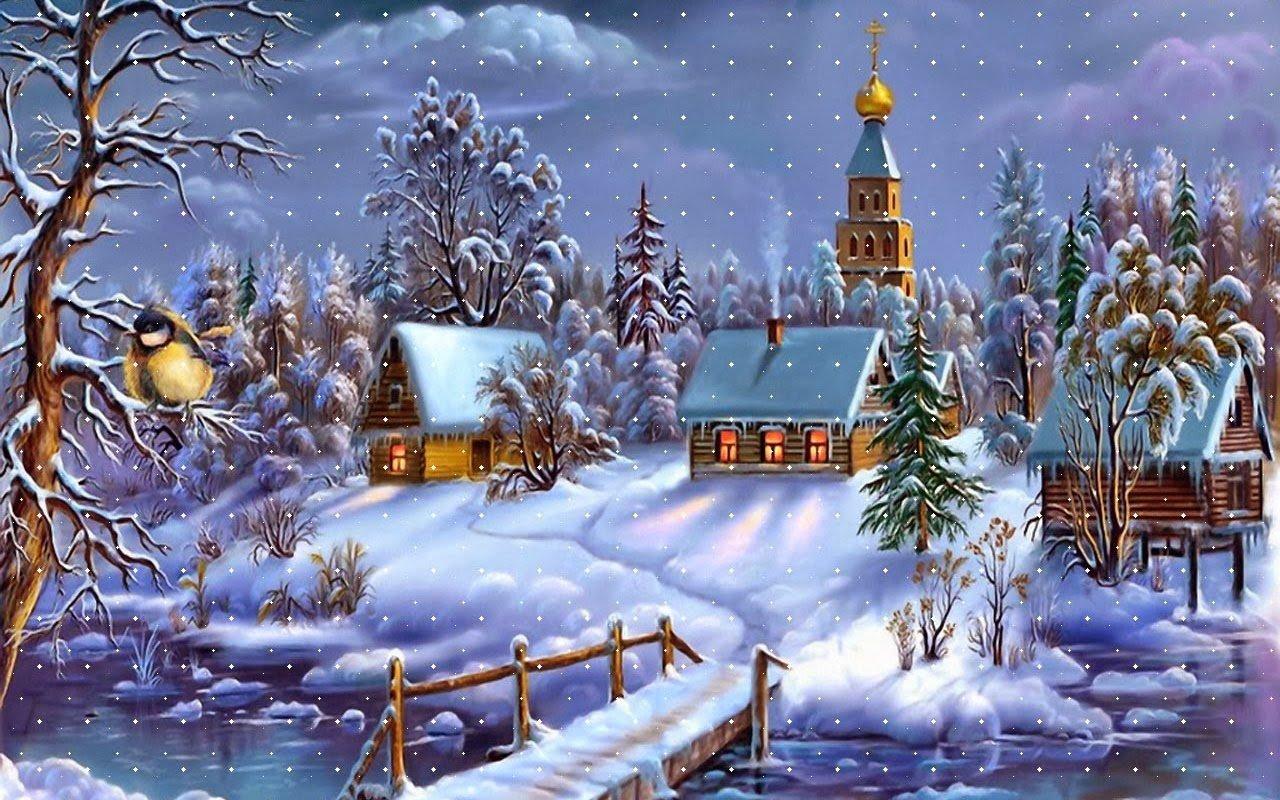 Yeni Yıl Kar Manzarası