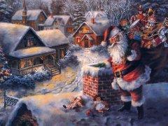 Yeni Yıl Noel Baba Bacadan Gelir