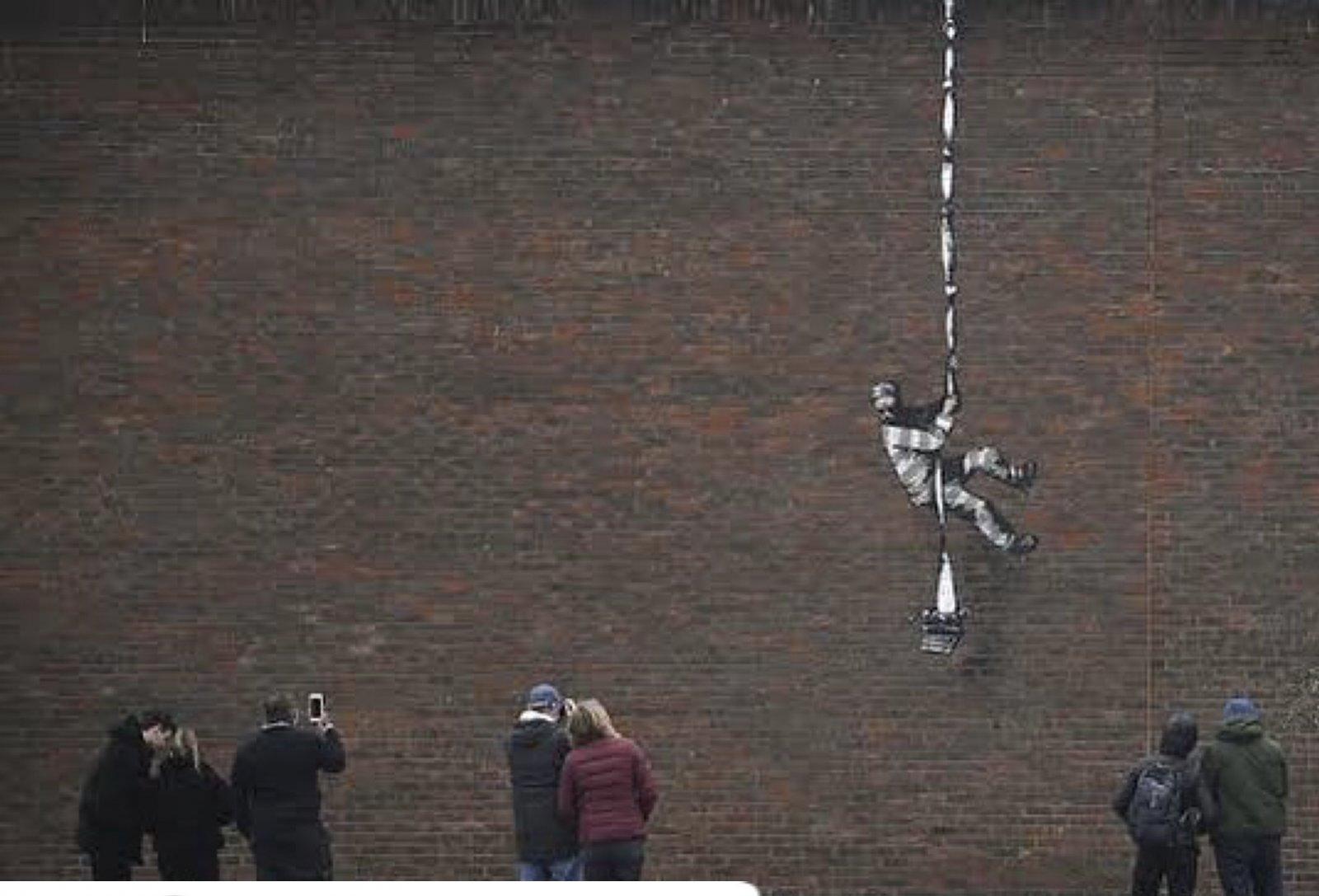 Banksy'den izinsiz sergi
