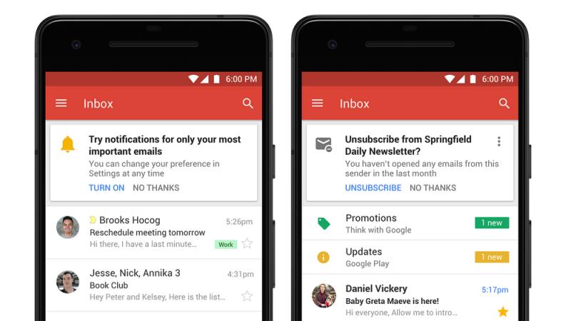 Gmail'e gelen tüm yeni özellikler gerçekten yararlı görünüyor
